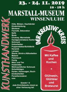 Marstall-Museum Winsen (Luhe). 23. - 24.11.2019 weihnachtlicher Kunsthandwerk Markt mit Nele Zander Keramik.