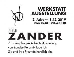 Einladung zur Werkstattausstellung bei Nele Zander Keramik