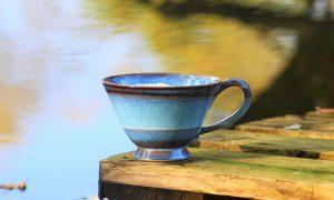Nele Zander Keramik - Töpferei - blaue Tasse